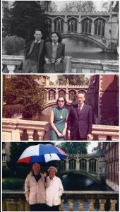 Mr and Mrs Lee Kuan Yew at Bridge of Sighs in Cambridge