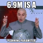 6.9m is a planning parameter