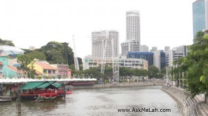 Clarke Quay and Gmax in front of MICA