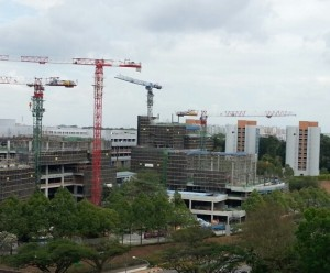 Just one of the many many examples of a construction boom in Singapore.