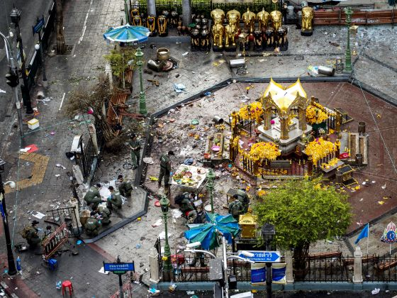 Erawan Shrine  explosion scene
